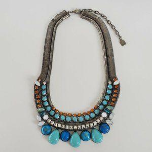 Dannijo Necklace Bib Choker Collar Turquoise Blue